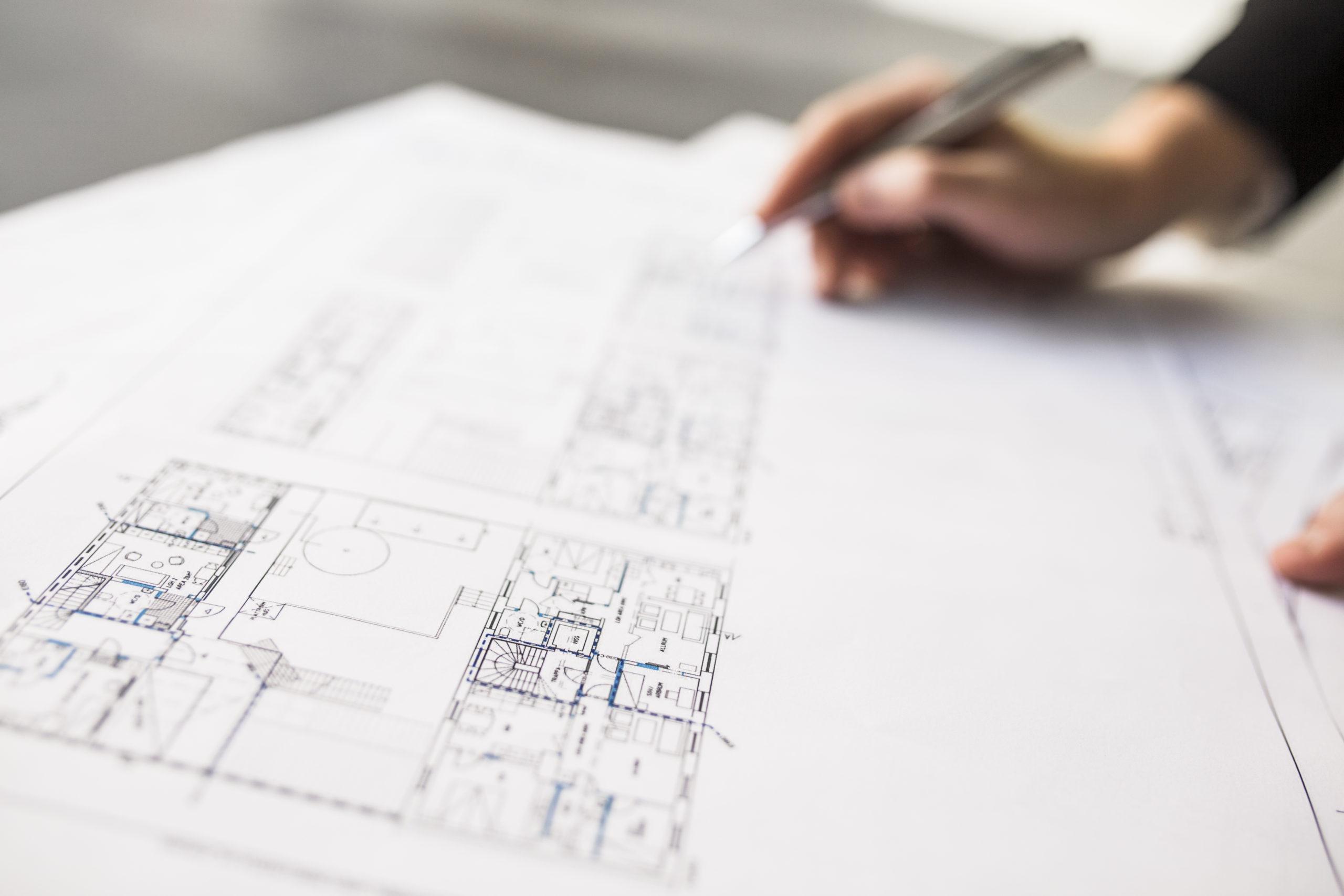 Plan construction architecte